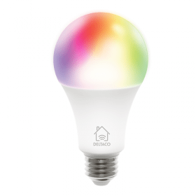 DELTACO Deltaco Smart Home RGB LED-lampa E27, WiFi Dimbar