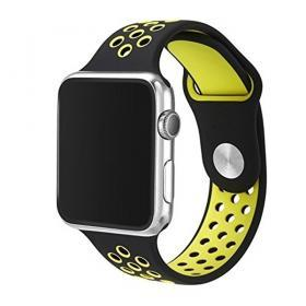 Taltech Silikonarmband för Apple Watch 5-4 44 mm & 3-2-1 42mm - Gul