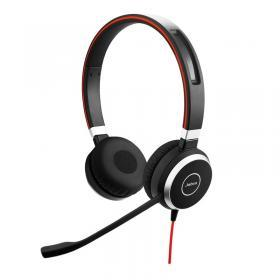 JABRA Jabra Evolve 40 Duo Stereo Headset Only - Svart