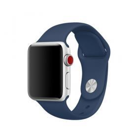 Taltech Mjukt Silikonarmband för Apple Watch 5-4 44 mm & 3-2-1 42mm - Blå