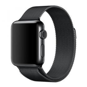 Taltech Milanese Metallarmband för Apple Watch 5-4 44 mm & 3-2-1 42mm - Svart