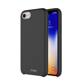 SiGN SiGN Liquid Silicone Case för iPhone 7 & 8/SE 2 - Svart