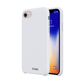 SiGN SiGN Liquid Silicone Case för iPhone 7 & 8/SE 2 - Vit