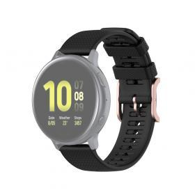 Taltech Dot Texture Armband för Samsung Galaxy Watch 41/42 mm 20 mm - Svart