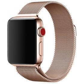 Taltech Milanese Metallarmband för Apple Watch 5-4 44 mm & 3-2-1 42mm - Roséguld