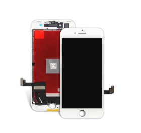OEM iPhone 8 Glas med original LCD display - Vit