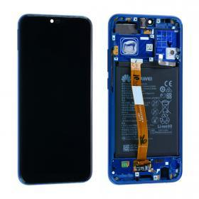 huawei Huawei Honor 10 Skärm LCD display inkl batteri - Original - Blå