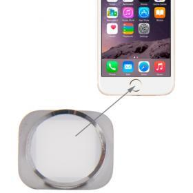 iPhone 6/6+ Vit Hemknapp med silver ring