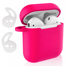 Celly Celly Silikonfodral & Earhooks för Apple AirPods - Rosa