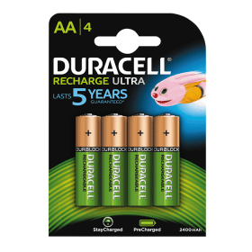 Verbatim Duracell Recharge ultra Laddningsbara AA Batterier 2500, 4-pack