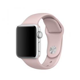 Taltech Mjukt Silikonarmband för Apple Watch 5-4 44 mm & 3-2-1 42mm - Rosa