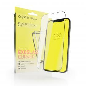 "Copter Copter Exoglass Curved Frame för iPhone 12 Pro & iPhone 12 6.1"" - Svart"
