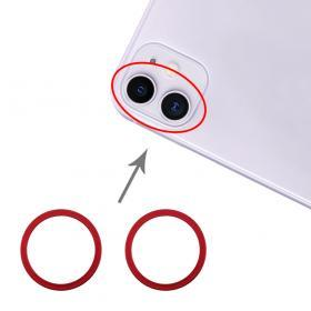 Taltech iPhone 11 Kameraring (2-pack) - Röd