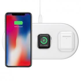 Baseus Baseus Trådlös laddare 3-in-1 18W för Telefon, AirPods & Apple Watch