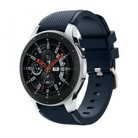 Silikonarmband Twillmönster för Samsung Galaxy Watch 46 mm - Mörkblå