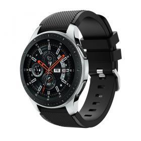 Silikonarmband Twillmönster för Samsung Galaxy Watch 46 mm - Svart