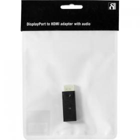 DELTACO DELTACO DisplayPort till HDMI adapter, 20-pin ha - 19-pin ho
