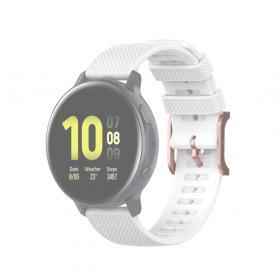 Taltech Dot Texture Armband för Samsung Galaxy Watch 41/42 mm 22mm - Vit