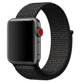 Taltech Velcro Armband för Apple Watch 5-4 40 mm & 3-2-1 38mm - Svart