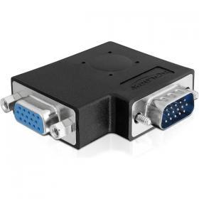 DeLOCK DeLOCK vinklad VGA-adapter, HD15 ha - HD15 ho, svart