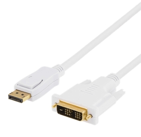 DELTACO DELTACO DisplayPort till DVI-D Single Link Monitorkabel, 0,5m - Vit