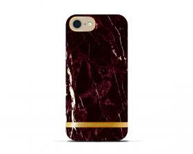 Richmond Richmond & Finch Skal för iPhone 6-6S-7-8 - Red Marble Glossy