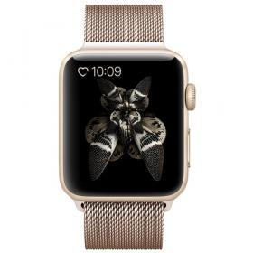 Taltech Milanese Metallarmband för Apple Watch 5-4 44 mm & 3-2-1 42mm - Guld