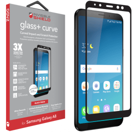 Zagg Zagg InvisibleSHIELD Glass Plus Curve Full Samsung A8 2018