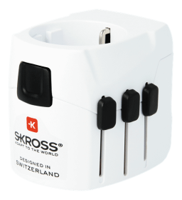 SKROSS SKROSS World Adapter, 100+ länder & USB