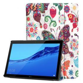 Tri-Fold Fodral Colorful Butterfly till Huawei MediaPad T5 10