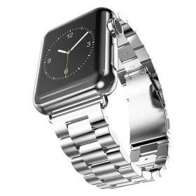 Taltech Metallarmband i Rostfritt Stål för Apple Watch 5-4 44mm & 3-2-1 42mm - Silver