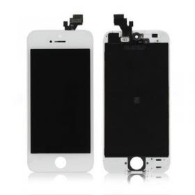 OEM iPhone 5 Display Glas med LCD - Vit