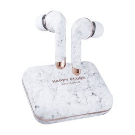 Happy Plugs Happy Plugs Air 1 Plus Trådlösa Hörlurar - White Marble