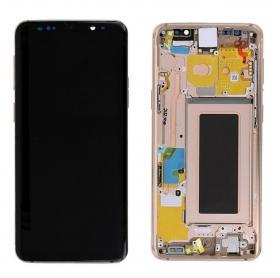 Samsung Samsung Galaxy S9 Skärm LCD display - Original - Guld