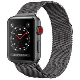 Taltech Milanese Metallarmband för Apple Watch 5-4 44 mm & 3-2-1 42mm - Grå