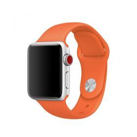 Taltech Mjukt Silikonarmband för Apple Watch 5-4 44 mm & 3-2-1 42mm - Orange