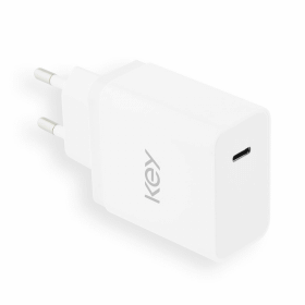 Key Key USB-C Adapter with Cable 5V/3.0A/18W - White