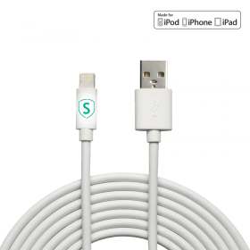 SiGN SiGN Lightning-kabel till iPhone / iPad, MFi-certifierad - 1 m