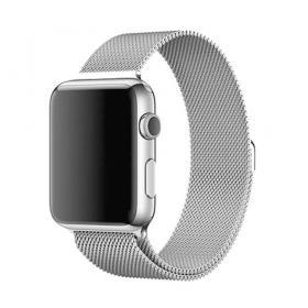 Taltech Milanese Metallarmband för Apple Watch 5-4 44 mm & 3-2-1 42mm - Silver