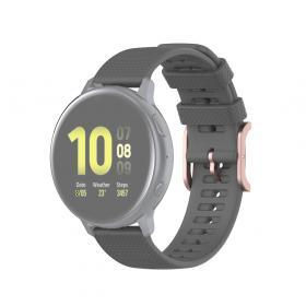 Taltech Dot Texture Armband för Samsung Galaxy Watch 41/42 mm 20 mm - Grå
