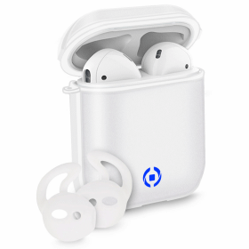 Celly Celly Glacier Aircase & Sportbyglar för Apple AirPods - Vit