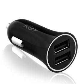 Key Key Power Car charger 2 X USB-A 5V/4.8A - Black