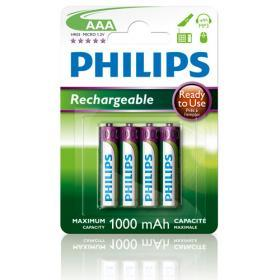 Philips Philips Laddningsbara AAA Batterier 1000mAh, 4-pack