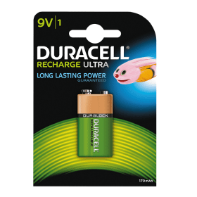 DURACELL Duracell Recharge Ultra Laddningsbart 9V Batteri NiMH, 1-st