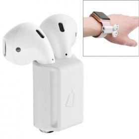 Silikonhållare för Apple Airpods - Apple Watch - Vit