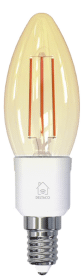 Deltaco Smart Home LED-filamentlampa E14 WiFi 4.5W C35