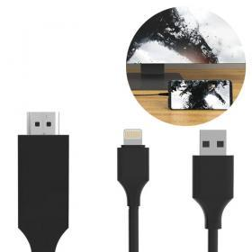 Koppla iPhone eller iPad till TV:n med HDMI-kabel som har lightning-kontakt