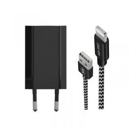 SiGN SiGN iPhone Laddare med Lightning-kabel 1,5m, 1A - Svart