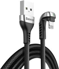 Baseus Baseus Green U-shaped USB till Lightning Kabel, LED-indikator, 1.5A, 2m - Svart